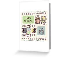 Owl Compilation Birthday Greeting Greeting Card