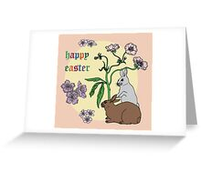 Happy Easter with Pink Background Greeting Card