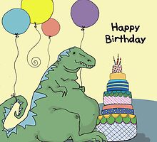 Happy Birthday Dinosaur with Smaller Font by MADCreations