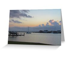 Wrightsville Beach At Dusk Greeting Card