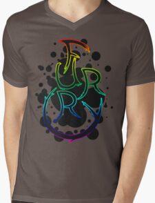 Furry shirt - Rainbow Outline Mens V-Neck T-Shirt