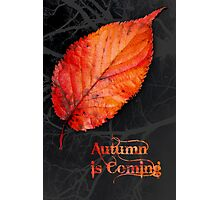 Autumn is Coming Photographic Print