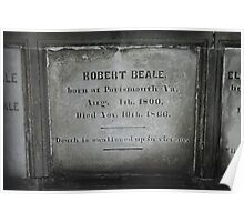 Robert Beale Grave, 1800-1866 Poster