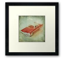 Vintage Cherry Red Chrysler De Soto Framed Print