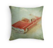 Vintage Cherry Red Chrysler De Soto Throw Pillow