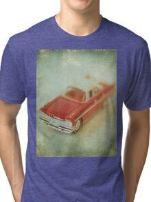 Vintage Cherry Red Chrysler De Soto Tri-blend T-Shirt