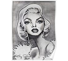 Marilyn Monroe caricature Poster