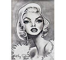 Marilyn Monroe caricature Photographic Print