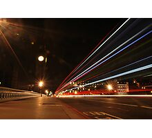 Lights on Westminster Bridge  Photographic Print
