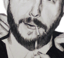 Justin Vernon/Bon Iver Drawing Sticker