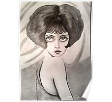 Clara Bow Caricature Poster