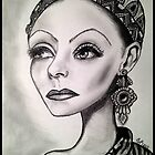 Greta Garbo caricature by loflor73
