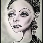 Greta Garbo caricature by loflor73