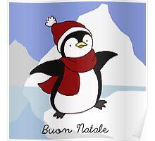 Buon Natale Penguin Poster