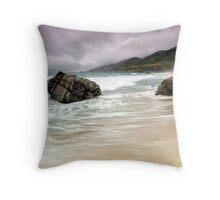 Garrapata Beach, CA Throw Pillow