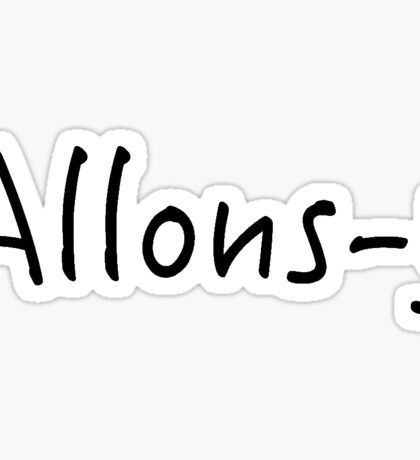 Allons-y Sticker