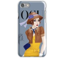 Come on an Adventure With Me ( Blue) iPhone Case/Skin