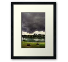 Just before the Storm Framed Print