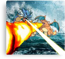 Pokemon - Gyrados vs Charizard Canvas Print