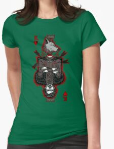 King of the North (reverse) Womens Fitted T-Shirt