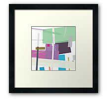 Colour in a bright spot , abstract Framed Print
