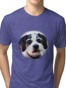 Black and White Dog Tri-blend T-Shirt