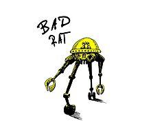 BAD RAT IN RETRO YELLOW Photographic Print