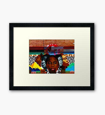 Harlem Street Art Framed Print