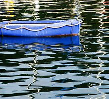 Small Blue Boat ~ Lyme Regis by Susie Peek