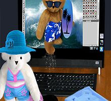 (✿◠‿◠) BEARS SURFING THE INTERNET PICTURE/CARD (✿◠‿◠)  by ╰⊰✿ℒᵒᶹᵉ Bonita✿⊱╮ Lalonde✿⊱╮