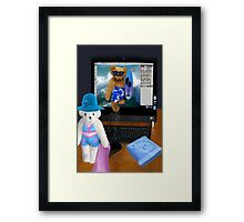 (✿◠‿◠) BEARS SURFING THE INTERNET PICTURE/CARD (✿◠‿◠)  Framed Print