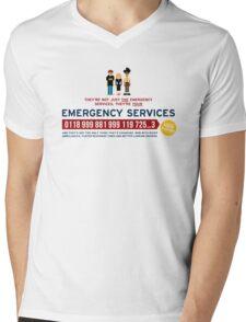 IT Crowd - Emergency Services Mens V-Neck T-Shirt