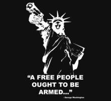 Armed Lady Liberty 2nd Amendment  by jaydizzle916