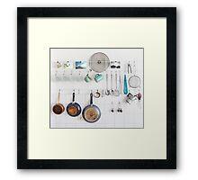 Kitchen Utensils Framed Print