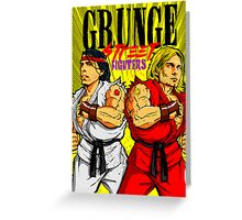 Grunge Street Fighters Greeting Card
