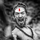 Shouting Sadhu by visualspectrum