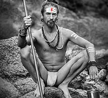 Yogi With Trident - Naked In Ashes by visualspectrum