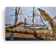 Cork Anchor Metal Print