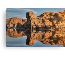 Granite Rorschach Canvas Print