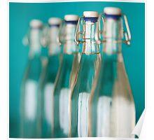 Row of Glass Bottles Poster