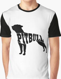 Pitbull black Graphic T-Shirt