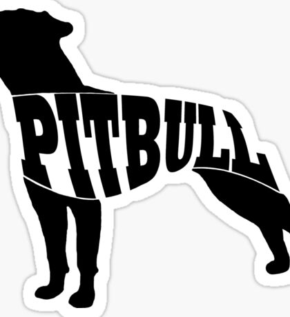 Pitbull black Sticker