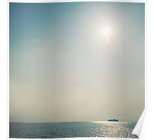 Cruise Ship, Sky And Sea Poster