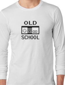 Old School Nintendo Video Game Wii Funny Long Sleeve T-Shirt