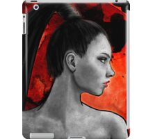 Red Warrior Woman Painting iPad Case/Skin