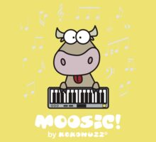 Moosic - Fun Cow playing piano Kids Clothes
