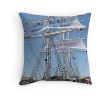 The 'Lord Nelson' Festival of Tall Ships, Port Adelaide. Throw Pillow