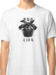 Pug Life  humor Funny Geek Geeks Classic T-Shirt