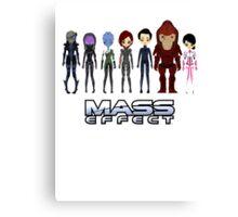 Mass Effect Cartoon - Jane Shepard Canvas Print
