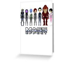 Mass Effect Cartoon - Jane Shepard Greeting Card